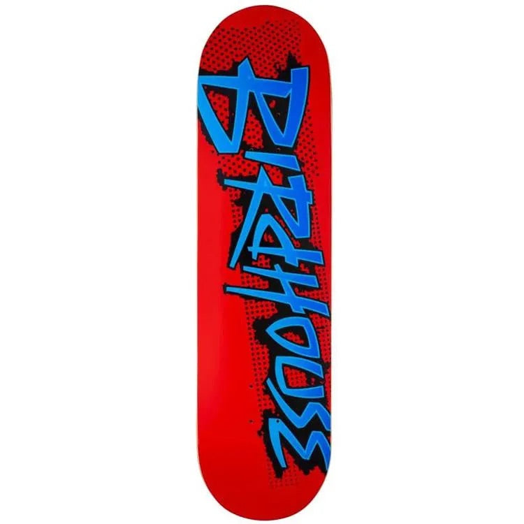 Birdhouse Logo Deck Splatter Logo Red 8.25""