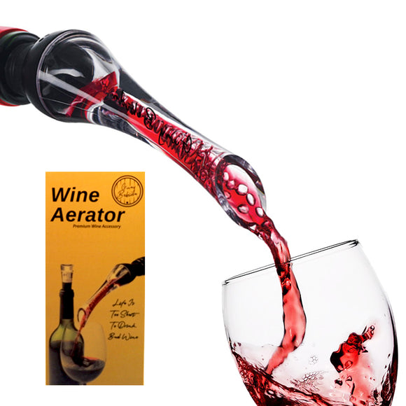 Guay Bebida Wine Aerator Pourer with Air Tube in Gift Box - Guay