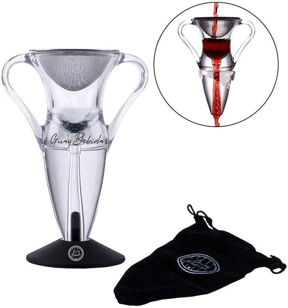 Guay Red Wine Cloud Aerator Pourer and Decanter with Base Stand - Guay