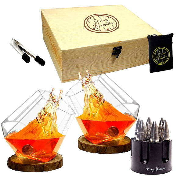 Guay Stainless Steel Chilling Whiskey Ice Bullets in Gift Set - Guay