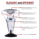 Guay Red Wine Cloud Aerator Pourer and Decanter Spout with Base Stand - Guay