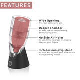 Guay Red Wine Drizzle Aerator Pourer and Decanter Spout with Base Stand - Guay