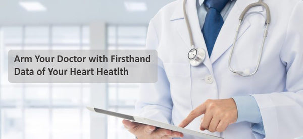Lookee ECG EKG Heart Monitor Arms your doctor with firsthand data of your heart health
