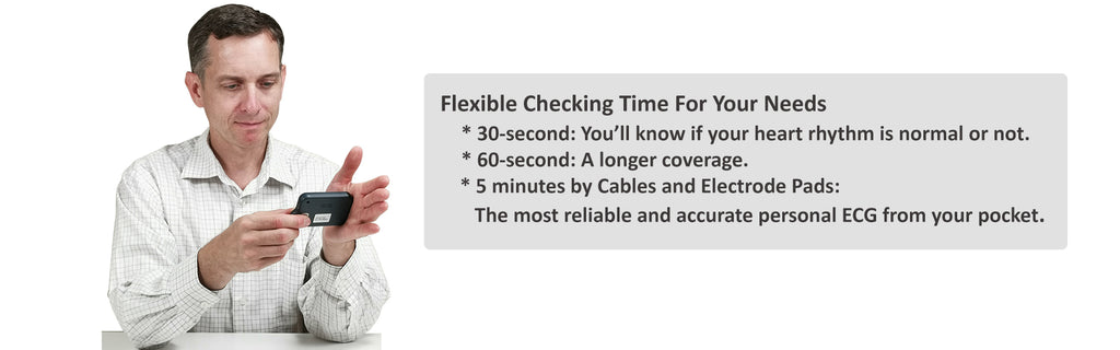 Lookee ECG EKG Heart Monitor offer flexible Checking Time