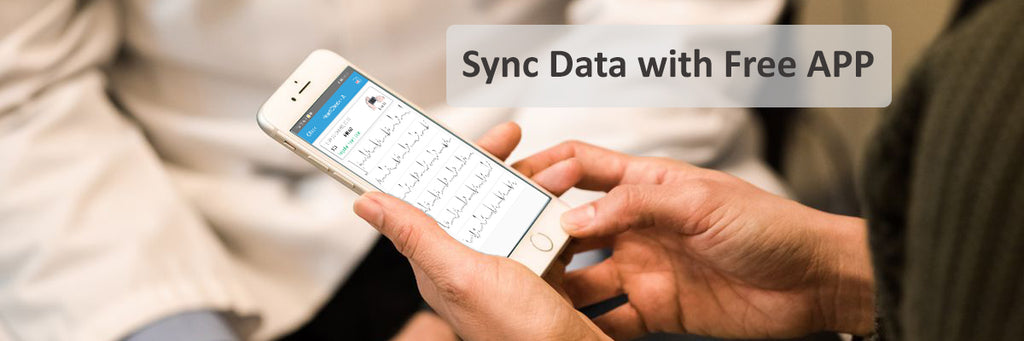 Sync Report to App from Lookee ECG EKG Heart Monitor