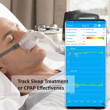 Load image into Gallery viewer, Lookee® Ring Sleep Monitor with Vibrating Alarm for Sleep Apnea & Low O2 | Tracks Blood Oxygen Saturation Level, Heart Rate, & CPAP Effectiveness