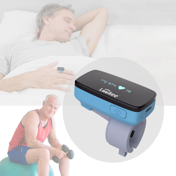 Lookee® Ring-Pro Sleep Monitor with PC & Mobile Apps | Vibration Alarm for Apnea & Low O2 | Tracks Blood Oxygen Saturation Level, Heart Rate & CPAP.