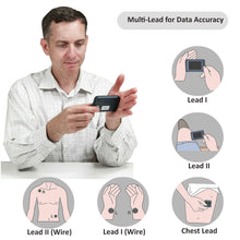 Load image into Gallery viewer, New! Lookee® ECG/EKG Heart Monitor | Personal Wireless Heart Rate Tracker | Color Touch Screen | Cable or Cable Free Recording in 30s/60s/5Min | Helps Detect Cardiac Abnormalities On The Go | Free Apps for Mobile & PC with Report | Wellness & Sport Use