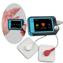 Load image into Gallery viewer, Lookee® Personal ECG / EKG Heart Monitor | Color Touch Screen | Cable or Cable Free Recording in 30s/60s/5Min | Detect Heart Abnormalities On The Go - Lookee Tech