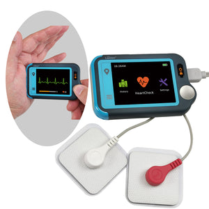 Lookee® Personal ECG / EKG Heart Monitor | Color Touch Screen | Cable or Cable Free Recording in 30s/60s/5Min | Detect Heart Abnormalities On The Go - Lookee Tech