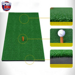 AMB Sports Golf Mat 30cm x 60cm Residential Practice Hitting Mat with Rubber Tee Holder