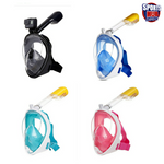 Diving Snorkelling Full Face Mask with Camera Go-Pro Mount Adult /Kids Sizes