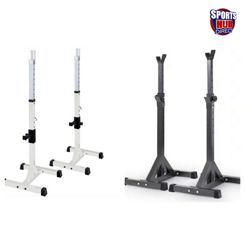 AMB Sports Squat Rack Bench Press Weight Lifting Stand Pair