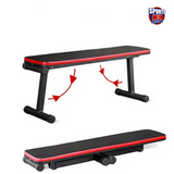 AMB Sports Foldable Portable Gym Bench - Both Flat and Decline Positions
