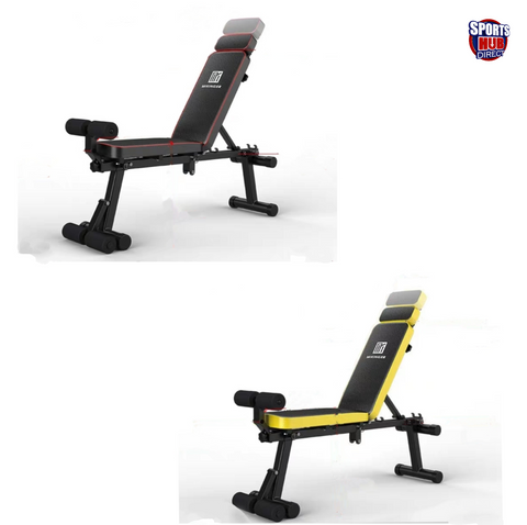 Foldable Incline/Decline Gym Fitness Bench with Leg Support