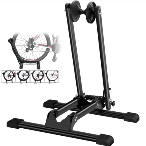 L-Shaped Foldable Bike Display Wheel Rack Parking Stand