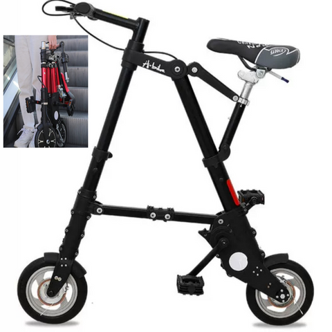 "Ultra Light 10"" Mini Folding Portable Bike for Paved Road Use"