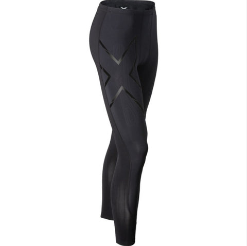 Women's Recovery Compression Long Tights - All Black