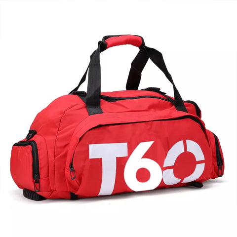 T60 Sports Gym Fitness Backpack Duffle Bag (with Shoe compartment)