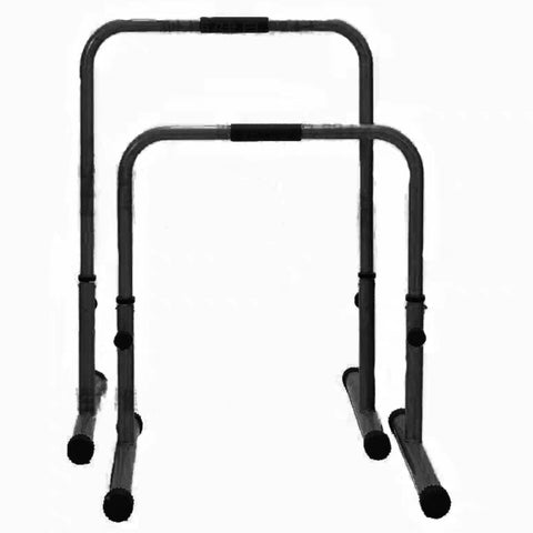 Adjustable Height Parallettes Dip Bars Station Machine Adjustable Settings