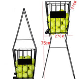 AMB Sports 72 Tennis Ball Pick up Hopper Portable Tennis Ball Stand with Basket