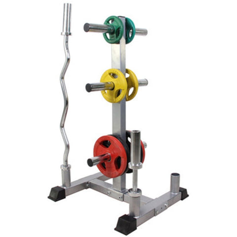 AMB Sports Olympic Weight Tree and Bar Stand