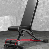 Adjustable Weight Bench Folding Exercise Bench with Dumbbells Inclined Sit-up Function