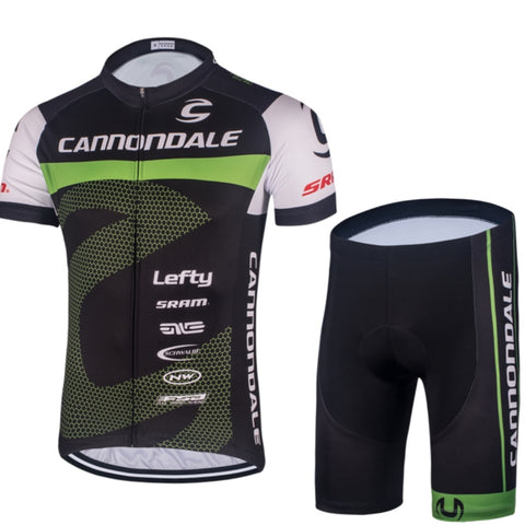 Cannondale Cycling Jersey Set Men's Short Sleeve Jersey and Shorts