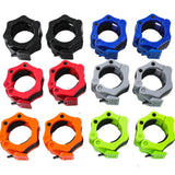 Olympic Barbell Clamps, Quick Release Non-Slip Barbell Collars Clips for 5cm Bars