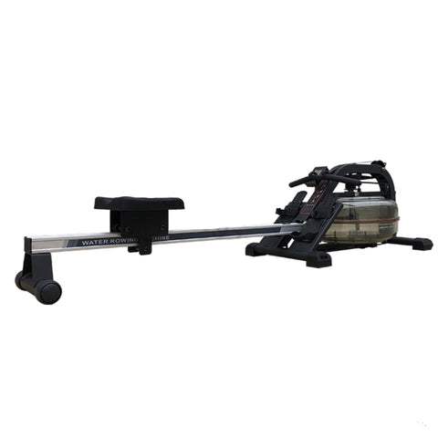 Indoor Water Rower Machine with LED Tracking Screen