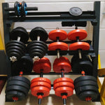 3 Tier Steel Home Workout Gym Dumbbell Weight Rack Storage Stand