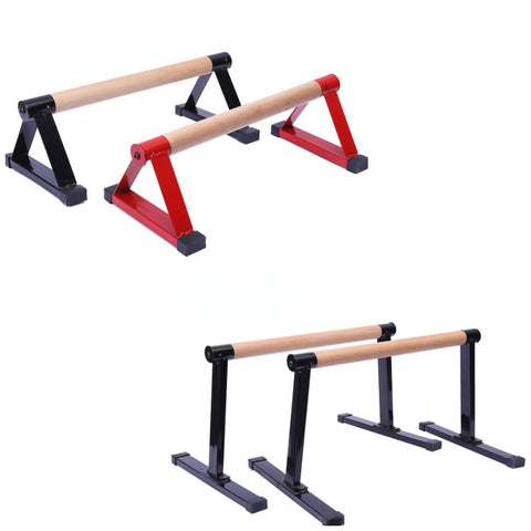 Solid Beech Wood Low Parallettes Push up Bars