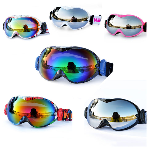 Ski Snowboard Goggles with UV400 Protection with Dual Lens Anti Fog Helmet Compatible