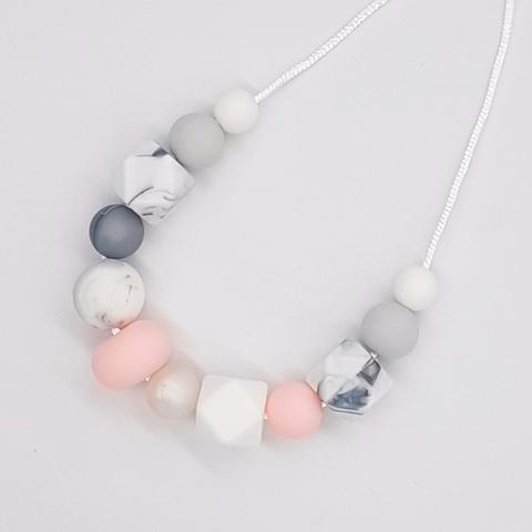 Silicone Necklace- Baby Pink