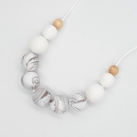 Silicone Necklace- Caramel Marble