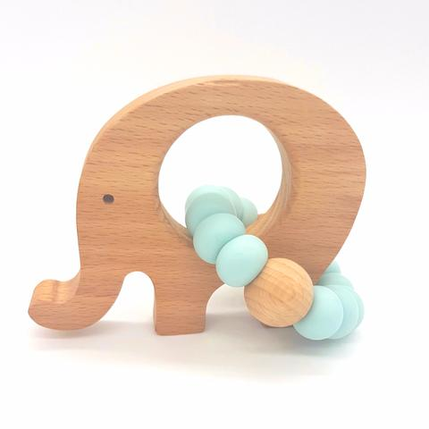 Teether Little Elephant-Duck Egg Blue