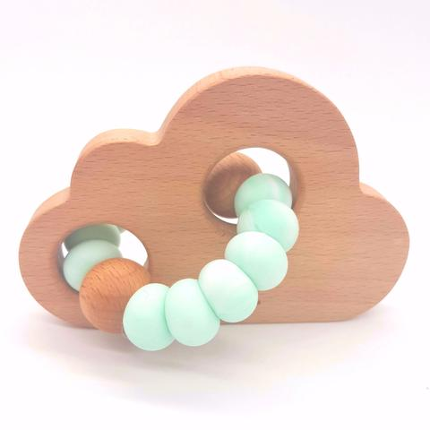 Teether Cloud- Marble Mint