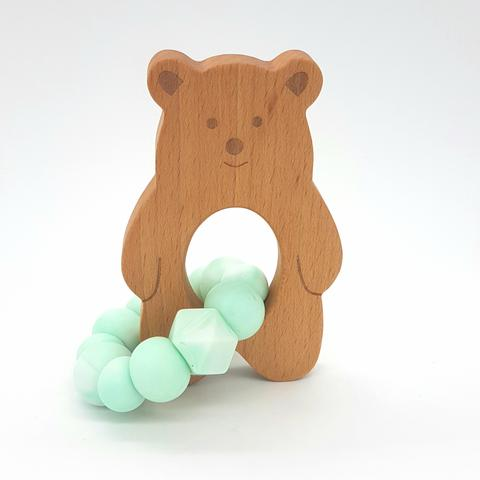 Teether Baloo Bear-Mint