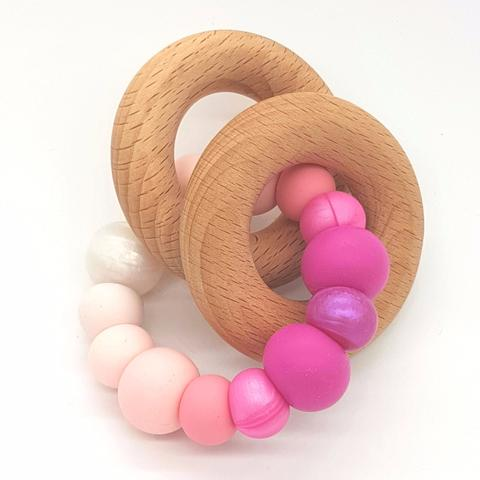 Teether Eclipse-Ombre Pink