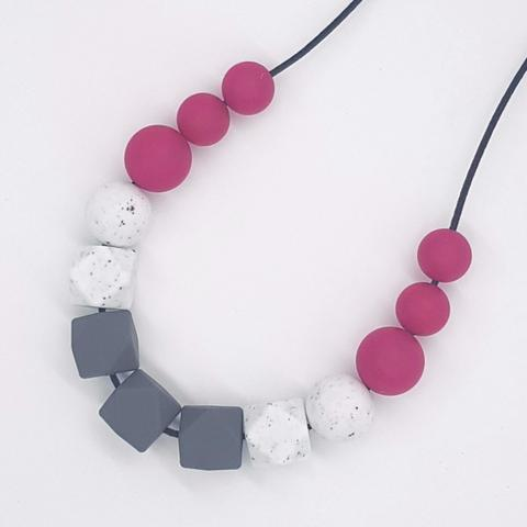 Silicone Necklace- Plum Basics