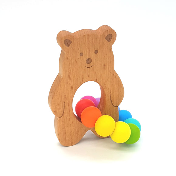 Teether Baloo Bear-Rainbow