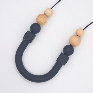 Silicone Necklace- Smoke Beech & Bow