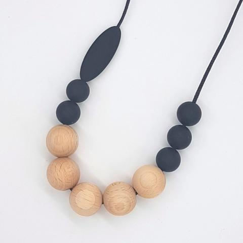 Silicone Necklace- Smoke Marquise