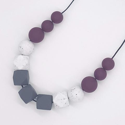 Silicone Necklace- Smokey Port Liat