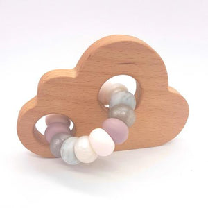 Teether Cloud- Smokey Quartz