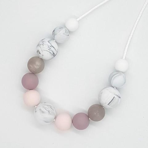 Silicone Necklace- Smokey Quartz