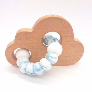 Teether Cloud- Teal Marble