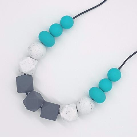 Silicone Necklace- Turquoise