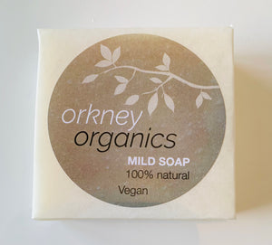 Paper wrapped, Orkney Organics, vegan, cold pressed, fragrance free soap