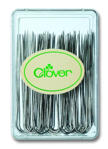 Small, clear box of 40 blocking pins for pinning your work into shape whilst it dries.